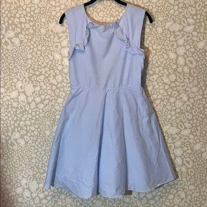 Light blue pinstripe sundress